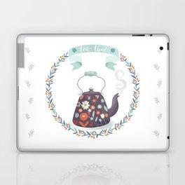 Tea Time Floral Tea Kettle Laptop & iPad Skin