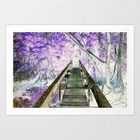 Bridge on Sapelo Art Print