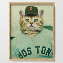 Baseball Cat 3 Serving Tray