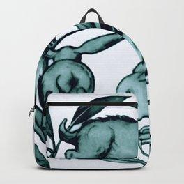 """William De Morgan """"Rabbits Running Along a Branch"""" 2. Backpack"""