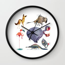 African animals 3 Wall Clock