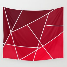 Red Line Pattern Wall Tapestry