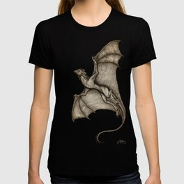 """Hurricane Wyvern"" by Amber Marine, Ink & Graphite Dragon Art, (Copyright 2016) T-shirt"