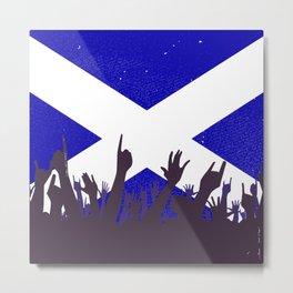 Scotland Flag with Audience Metal Print
