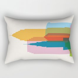 Shapes of Cleveland accurate to scale Rectangular Pillow