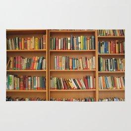 Bookshelf Books Library Bookworm Reading Rug