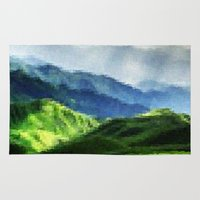 mountain Area & Throw Rugs featuring Mountain by David Zydd