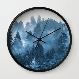 Blue Forest Melody  - 18/365 Wall Clock