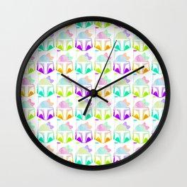 Boba Fett Pop Art Pattern Wall Clock