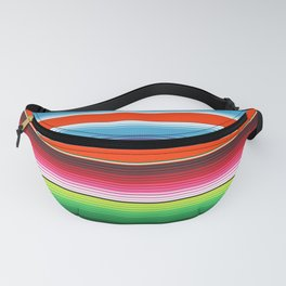 Red Green Blue Mexican Serape Blanket Stripes Fanny Pack