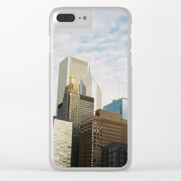 Chicago Skyline Clear iPhone Case