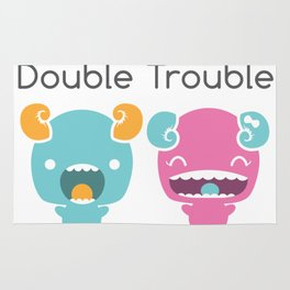 Twin Monsters Rug