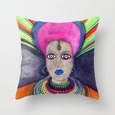 queen etnic pop Throw Pillow