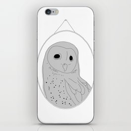 The wall of one conceited owl iPhone Skin