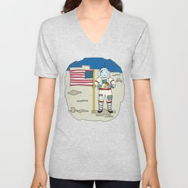 Moon Astronaut 1969 Unisex V-Neck