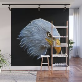 Fractal Bald Eagle Wall Mural