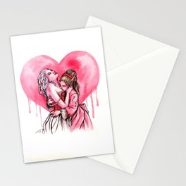Bleeding Heart Lesbians in Love Stationery Cards