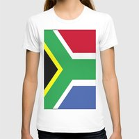 south africa T-shirts featuring South Africa Flag (1994) by Barrier Style & Design