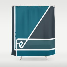Life in Abstract Shower Curtain