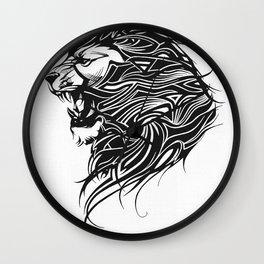 Roaring Lion  Leo Sign Wall Clock
