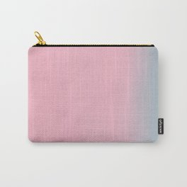 Pink & Grey / Aqua Watercolour Haze Carry-All Pouch