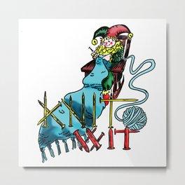 Knit Wit Metal Print