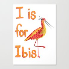 I is for Ibis Canvas Print