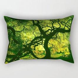 Green is the Tree Rectangular Pillow