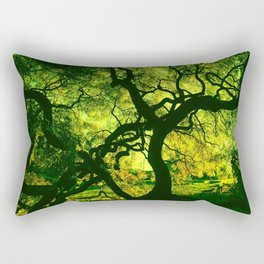 Green is the Tree Rectangular Pillow