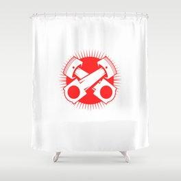 Car Mechanic Quote Gift Horsepower Torque Shower Curtain