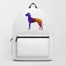 Great Dane 01 in watercolor-3 Backpack