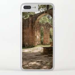 Old Sheldon Church Ruins | Yemassee, SC Clear iPhone Case