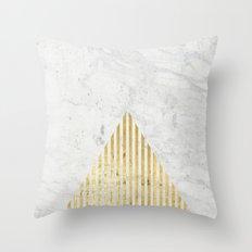 Trian Gold Throw Pillow