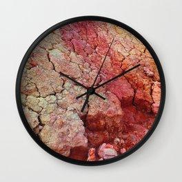 Red Clay Cliffs Wall Clock
