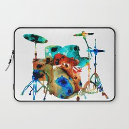 The Drums - Music Art By Sharon Cummings Laptop Sleeve
