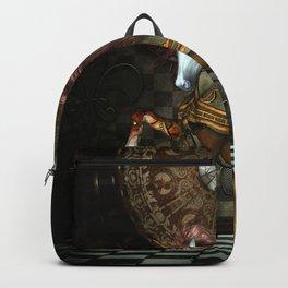 Steampunk,mystical steampunk unicorn Backpack