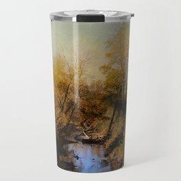 Blue Creek In Autumn Travel Mug