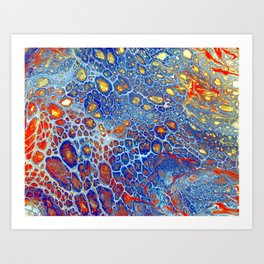 Dragonskin - Abstract Flow Acrylic Art Print