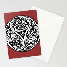 Celtic Art - Triskele - on Red Stationery Cards