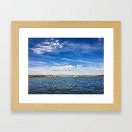 Fort Peck Spillway, Fort Peck Lake, Montana Framed Art Print