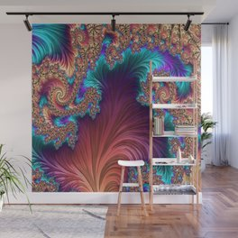 Peacock Feather Wall Mural