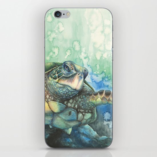 Sea Turtle Glides IPhone & IPod Skin By AndyKayArt