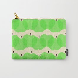 Apple pattern Green Carry-All Pouch