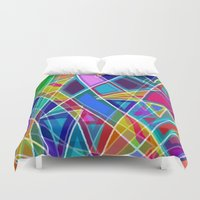 stained glass Duvet Covers featuring Stained Glass by gretzky