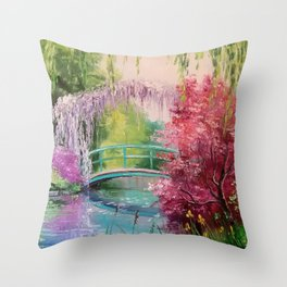 In the garden of Monet Throw Pillow
