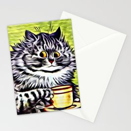 Cat on Coffee Break - Louis Wain Cats Stationery Cards