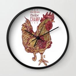 The Cluckin' Champ Wall Clock