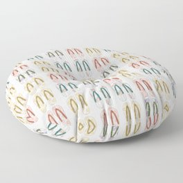 Multi-colored slates, flip-flops Floor Pillow