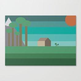 Mountain cabin Illustration Canvas Print