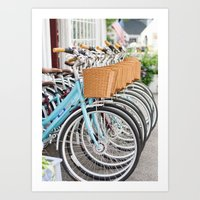 bicycles Art Prints featuring Bicycles by jillserranophotography